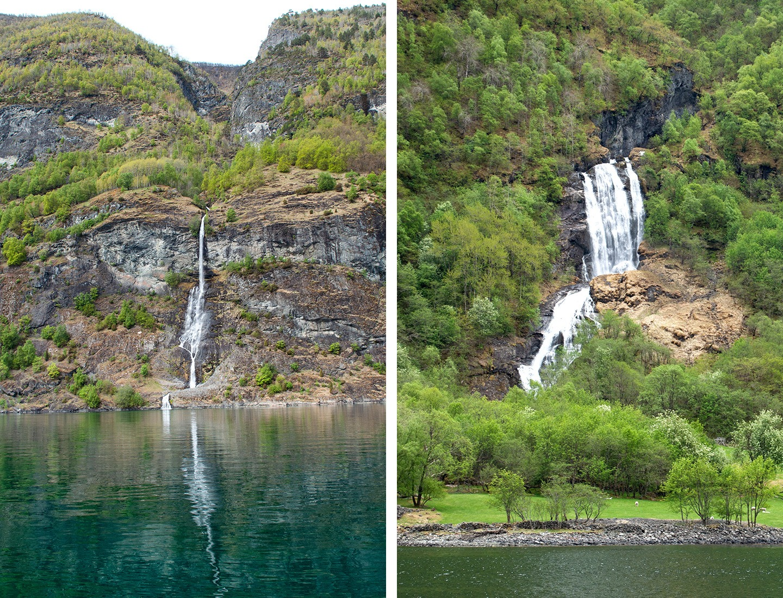 Waterfalls in the Norwegian fjords