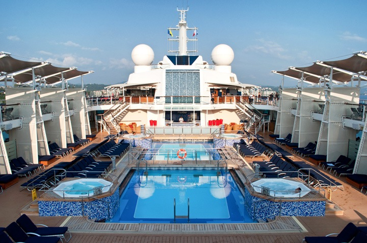 The pool on board Celebrity Equinox cruise ship