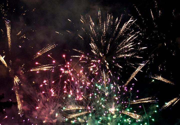 Fireworks over Strasbourg, France