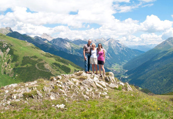 The Alps in summer in St Anton, Austria