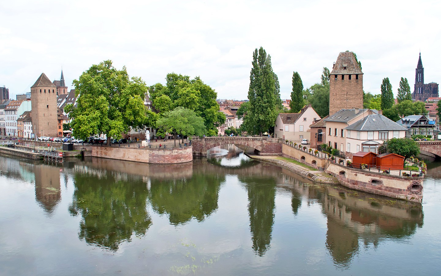 Strasbourg canals and convered bridges