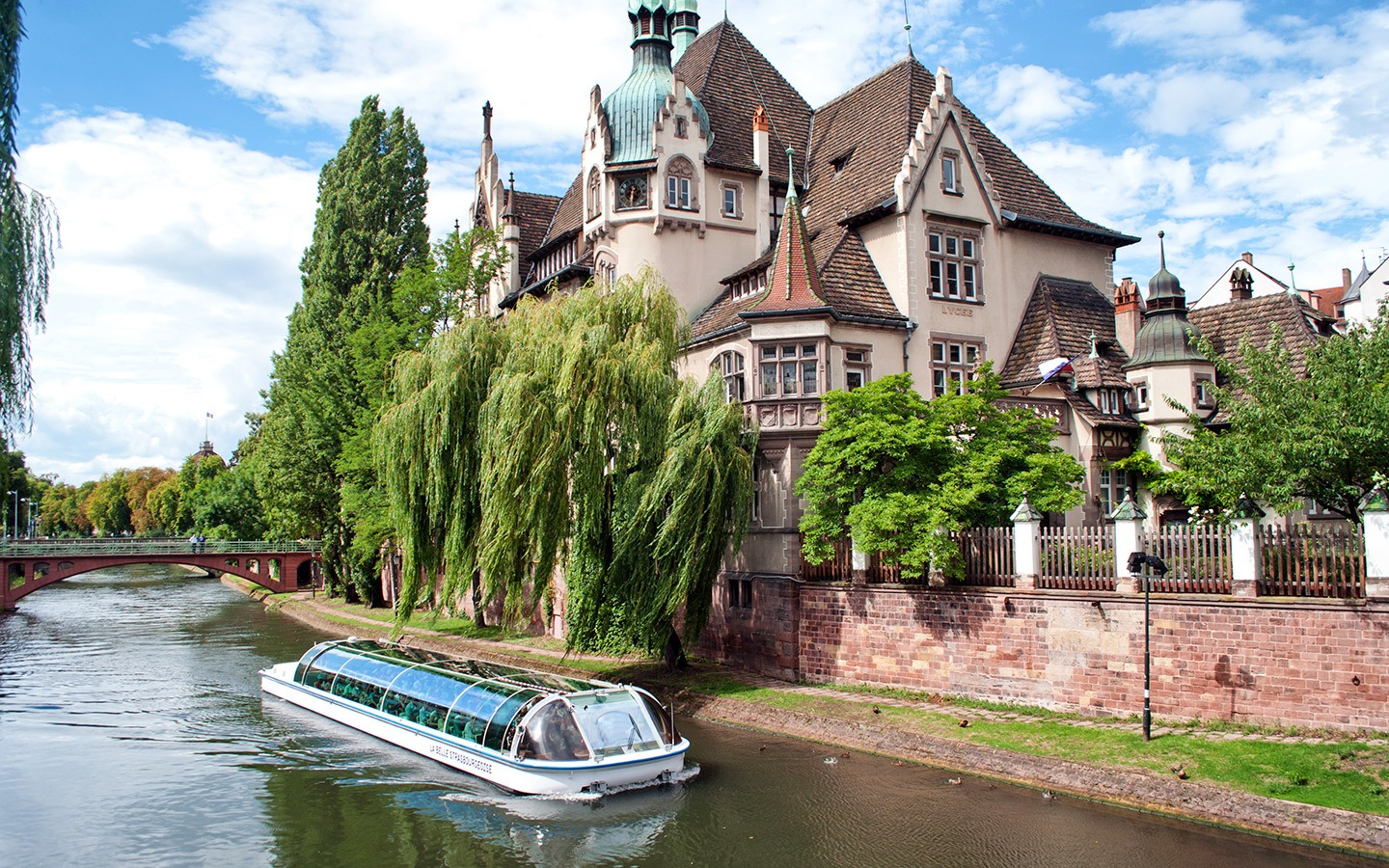 Boat trip on the canals of Strasbourg, Alsace