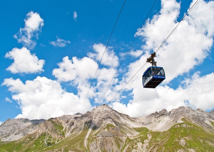 Vallugabahn cable car, St Anton Austria