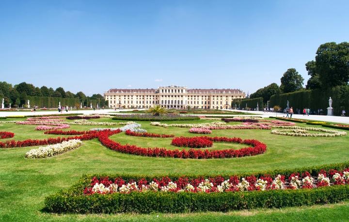 The Schönbrunn Palace in Vienna, Austria