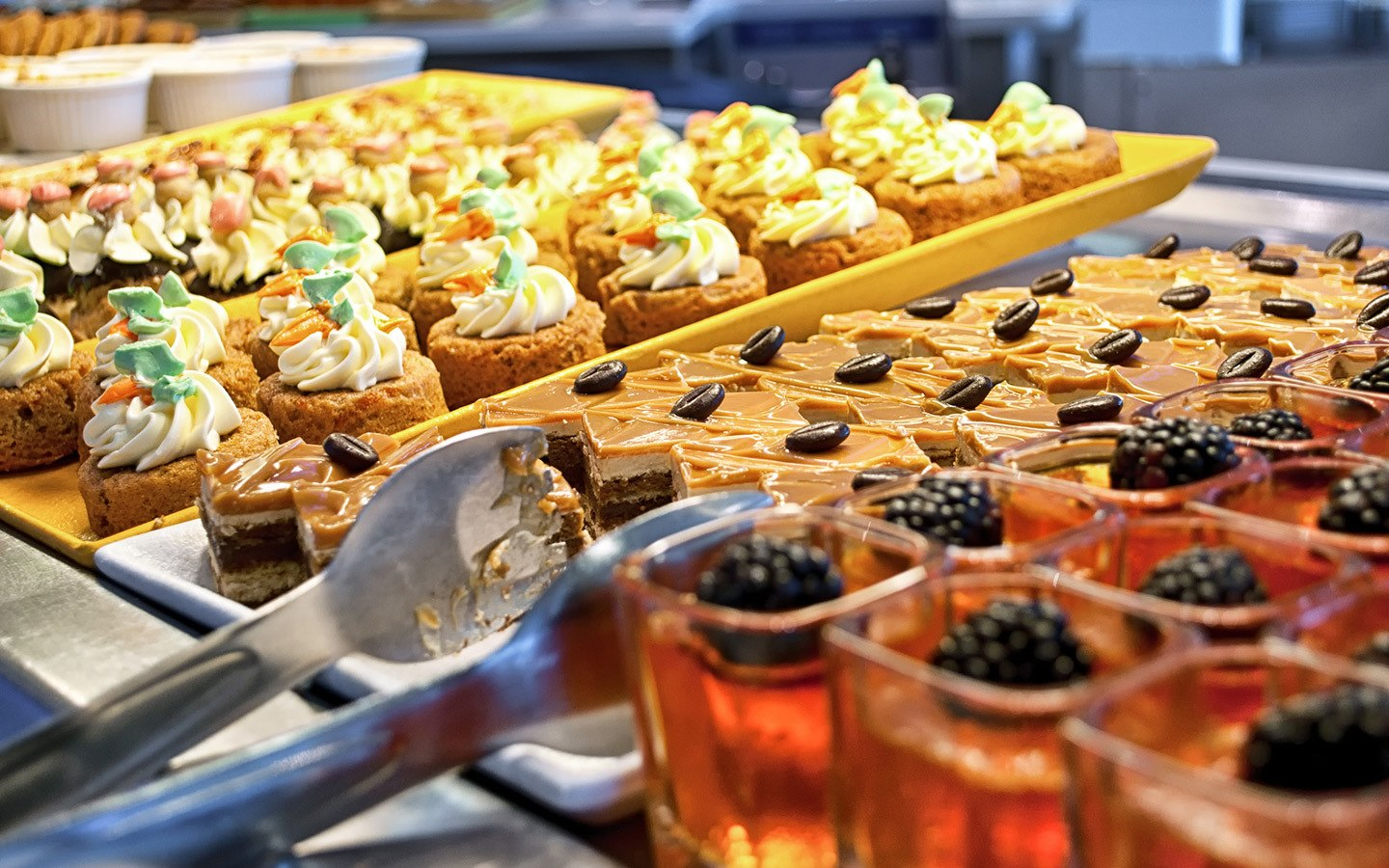 Afternoon tea in the Celebrity Equinox cruise ship buffet