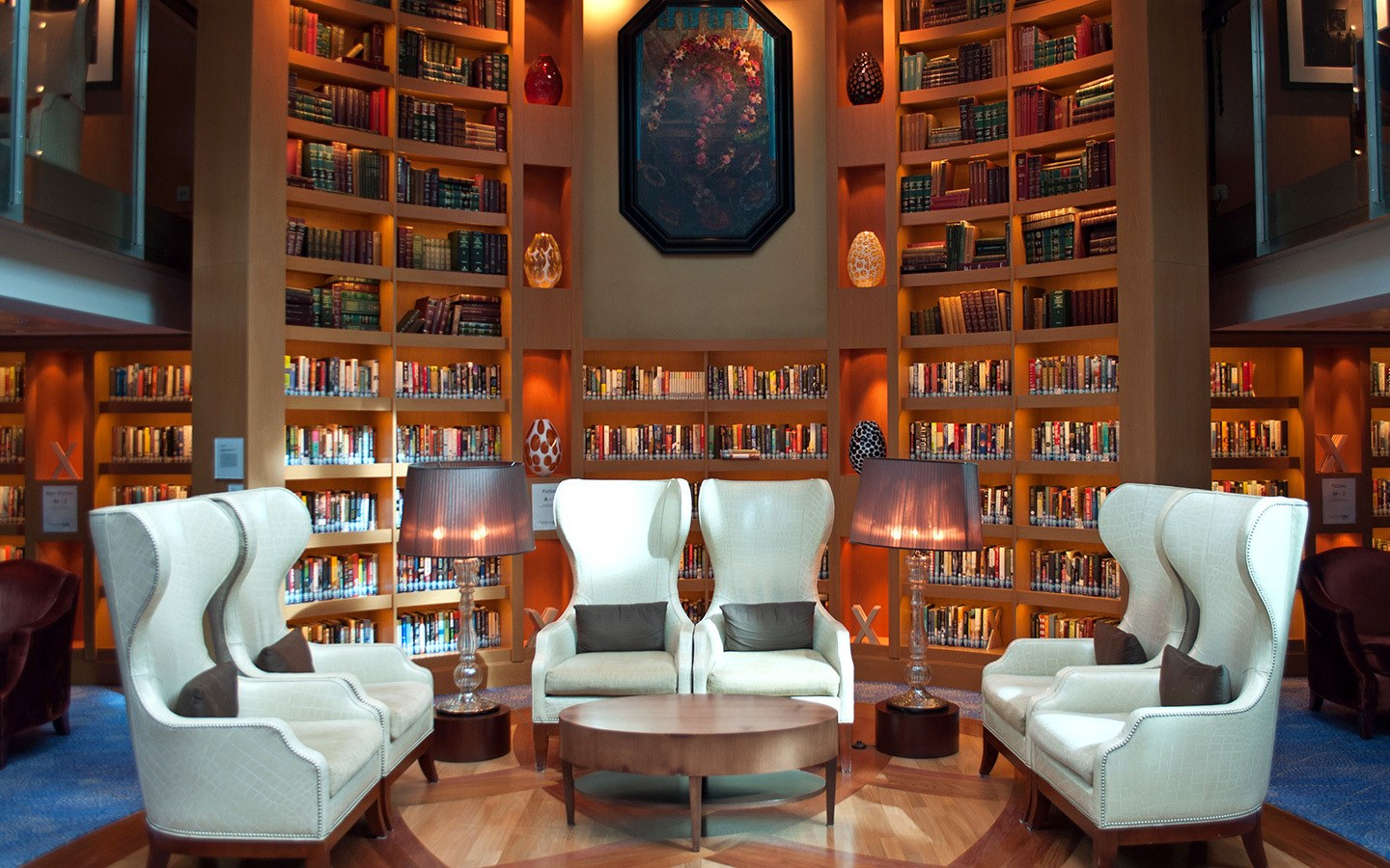 The Celebrity Equinox cruise ship library