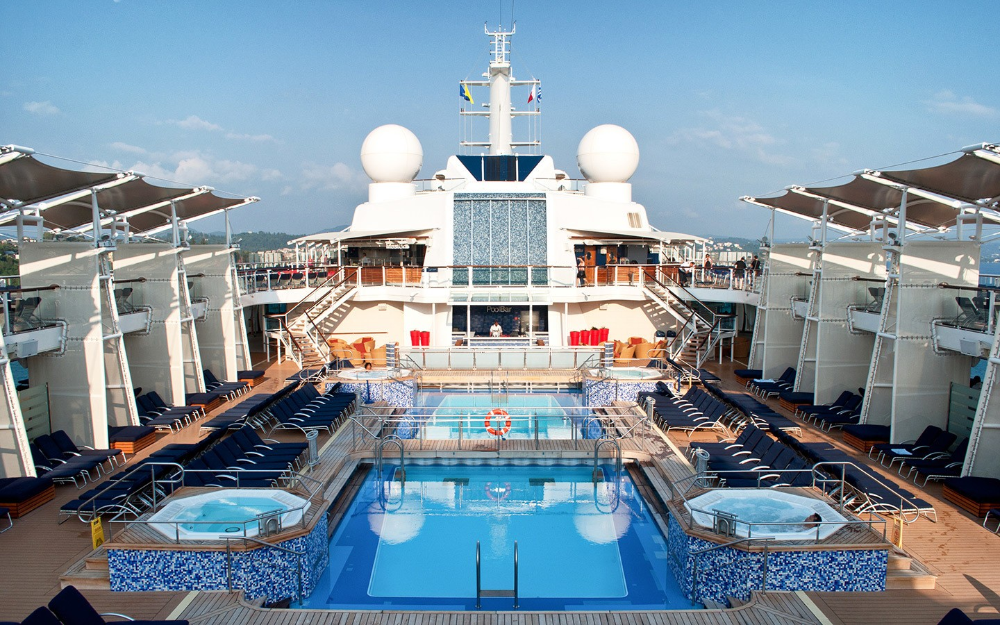 The pool deck on Celebrity Equinox cruise ship