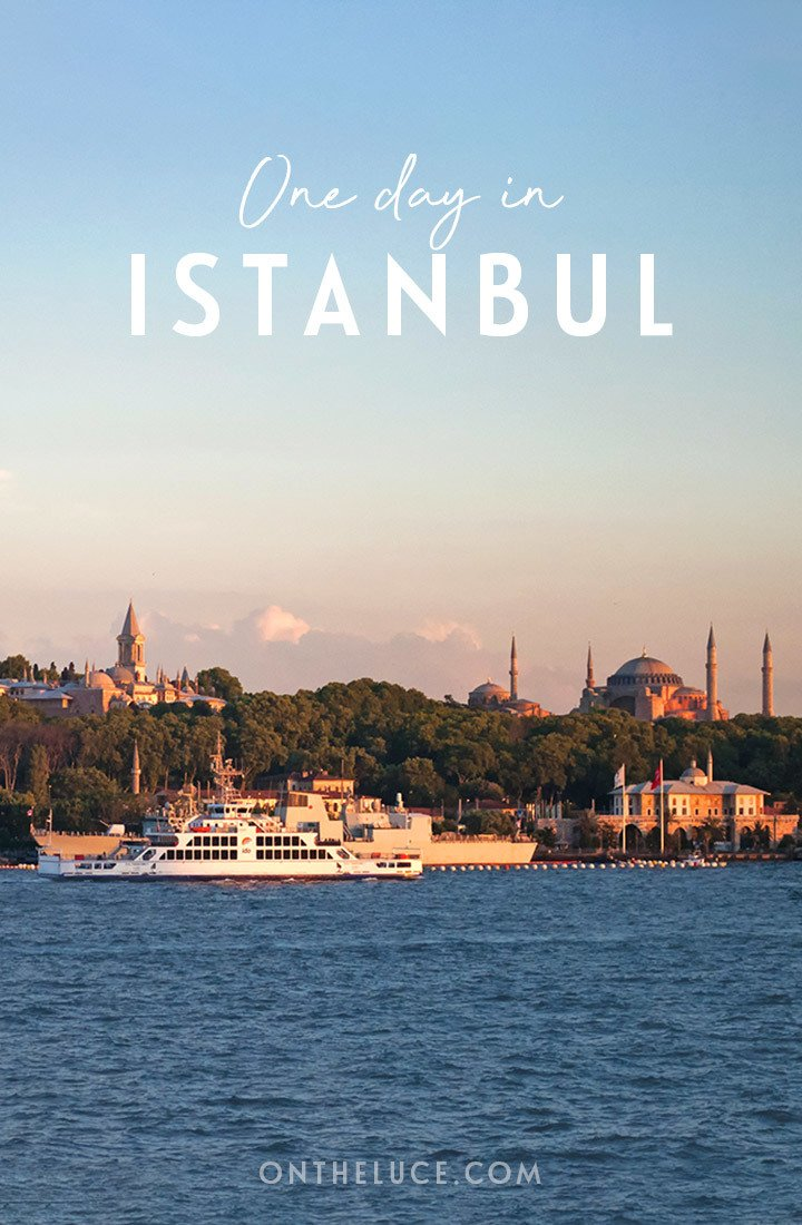 How to spend one day in Istanbul, Turkey: Exploring Sultanahmet, the historic heart of Istanbul, including the Blue Mosque, Hagia Sophia, shopping in the Grand Bazaar and a boat trip on the Bosphorus #Istanbul #Turkey #Sultanahmet