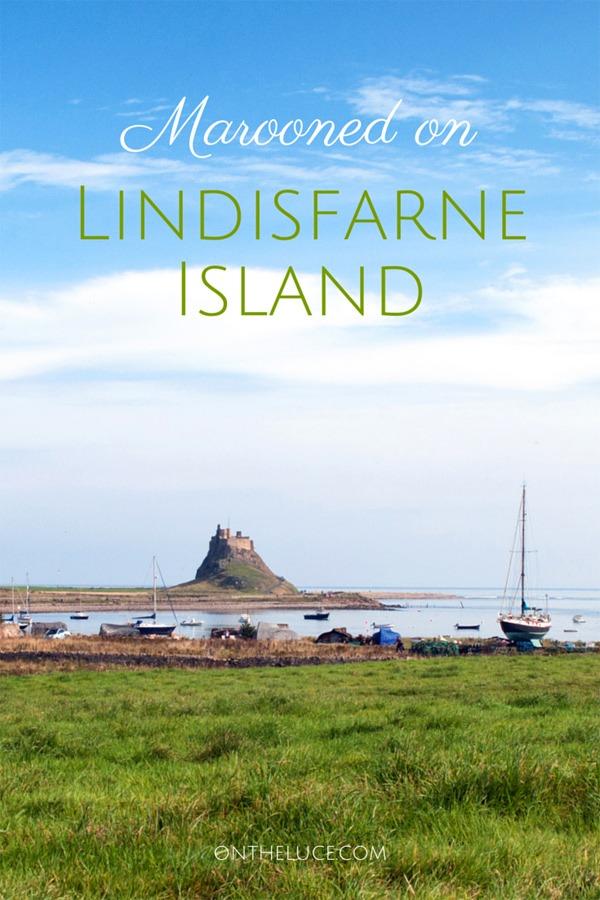 Marooned on Lindisfarne Island, Northumberland