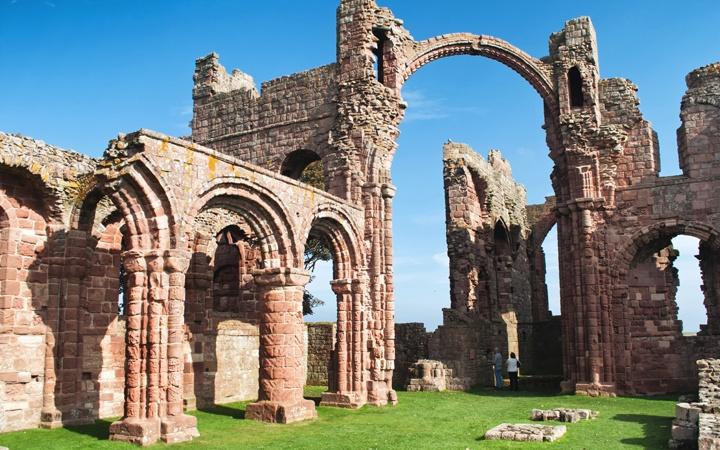 Lindisfarne Priory ruins in Northumberland
