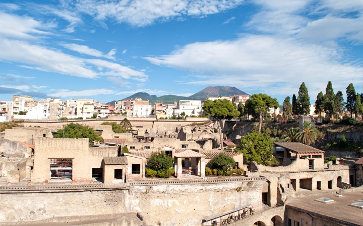 Herculaneum ruins near Naples, Italy