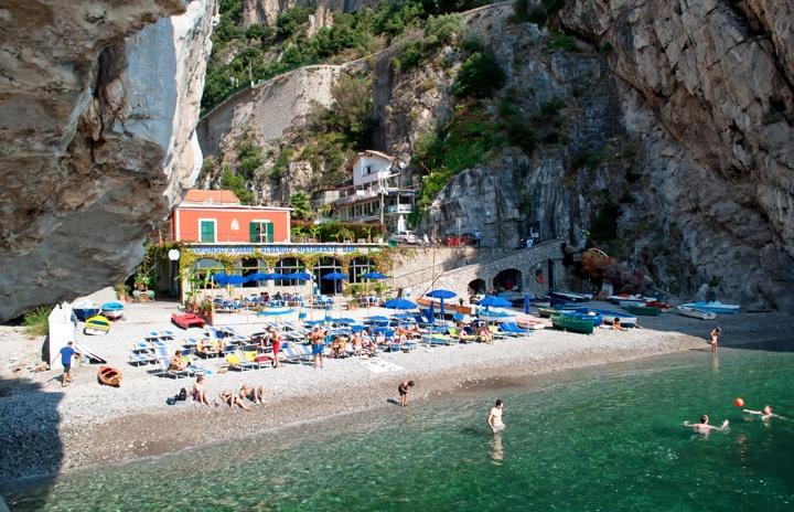 La Praia Beach on the Amalfi Coast