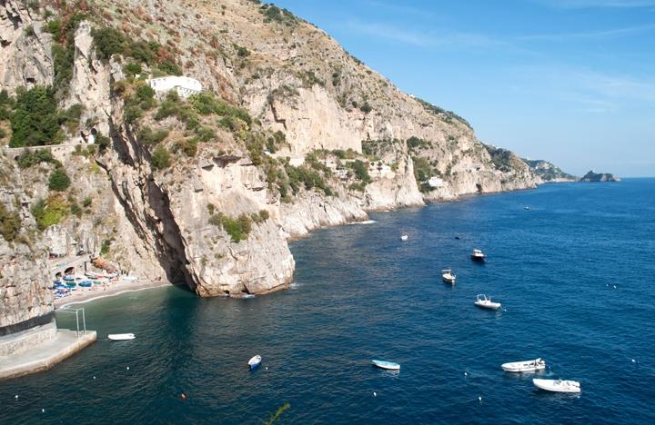 Praiano coastline, Amalfi Coast
