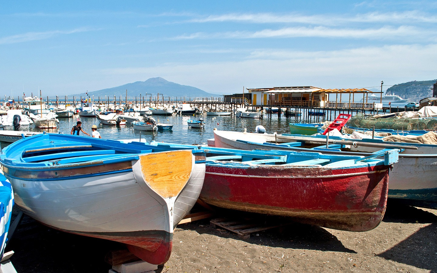 Boats in the harbour at Marina Grande, Sorrento, Italy