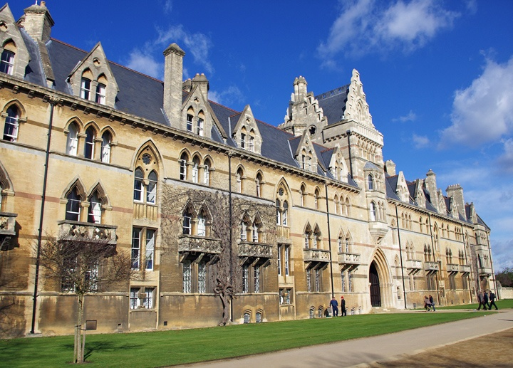 Outside Christ Church College
