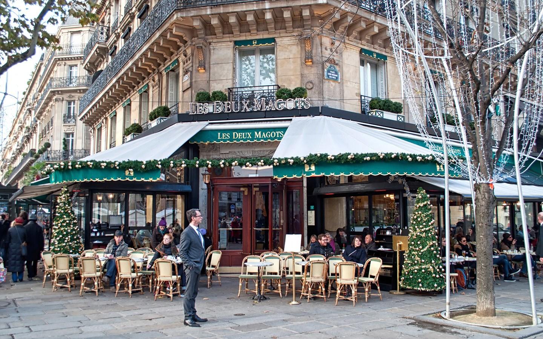 The Deux Magots café in St Germain Paris
