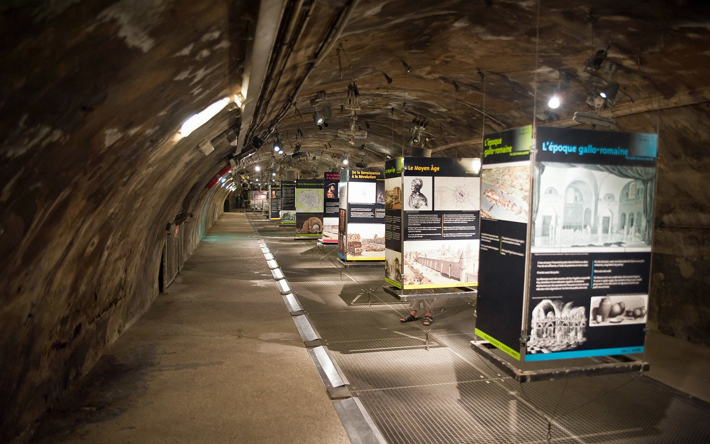 Exhibits down in the tunnels at the Sewer Museum