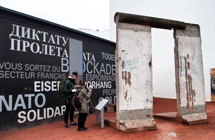 Berlin Wall near Checkpoint Charlie