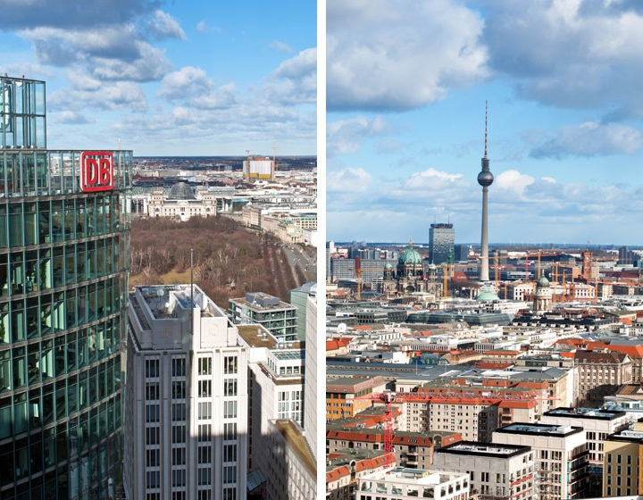 Berlin views from Panoramapunkt Tower