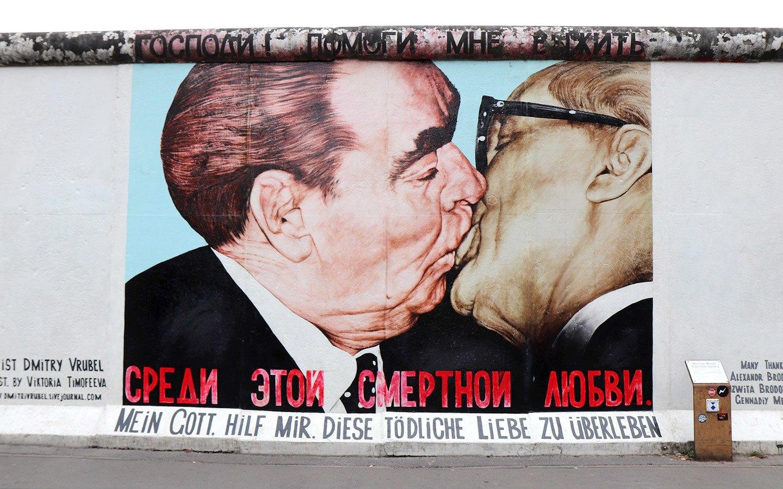 Artwork in Berlin's East Side Gallery