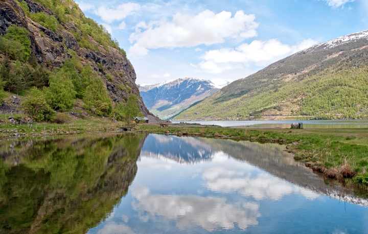 The fjords at Flam, Norway