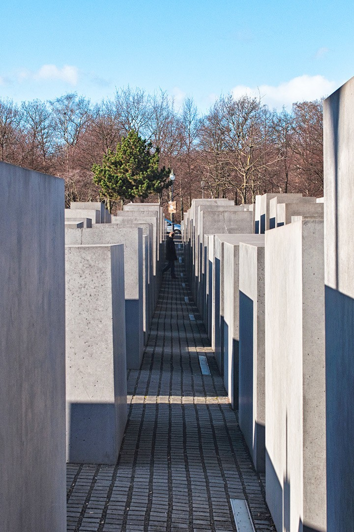 The controversial but moving Holocaust Memorial in Berlin, a solemn field of 2771 grey stone slabs commemorating the Jewish lives lost in the Holocaust.