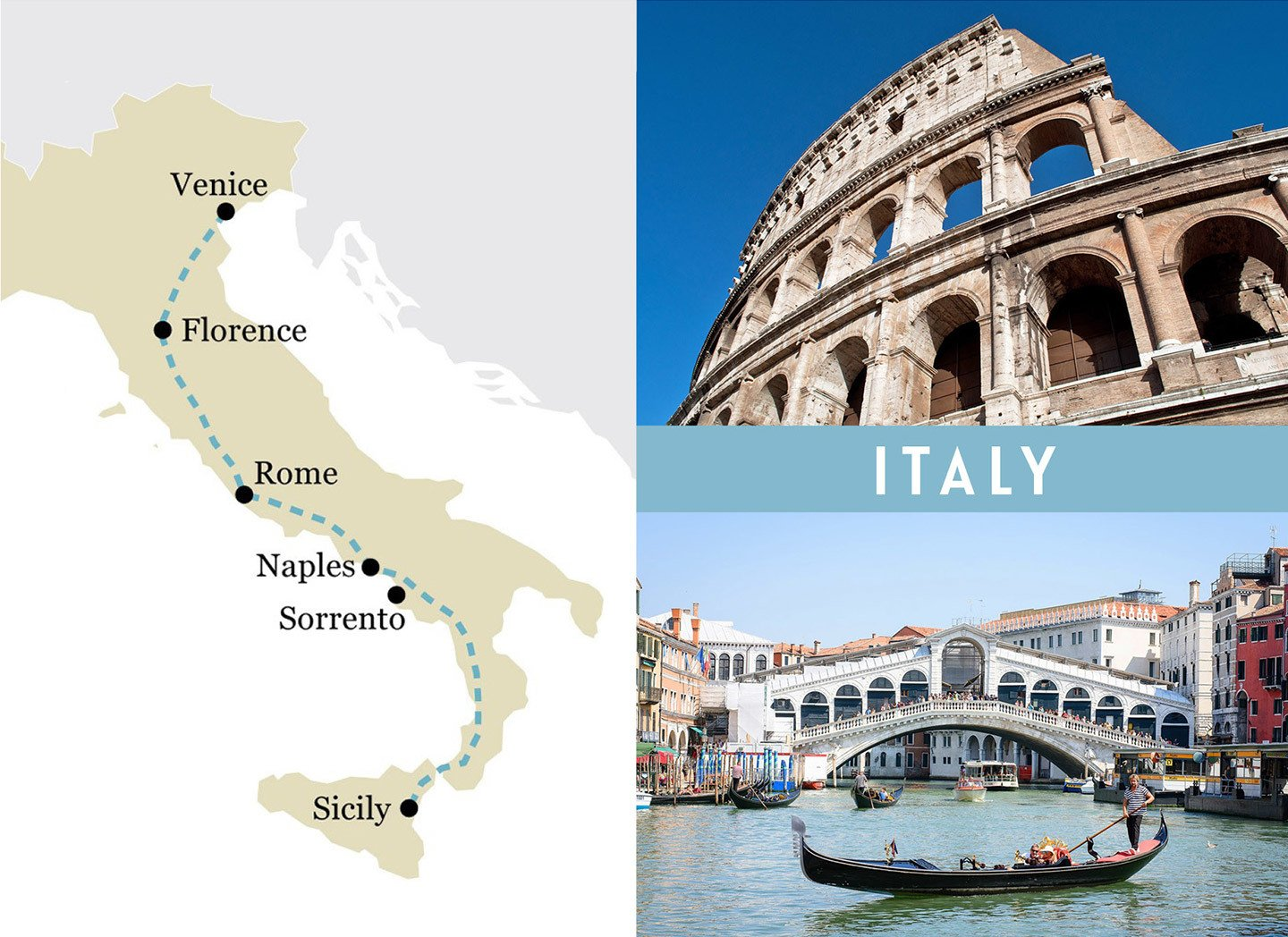 A one-week rail trip itinerary in Italy