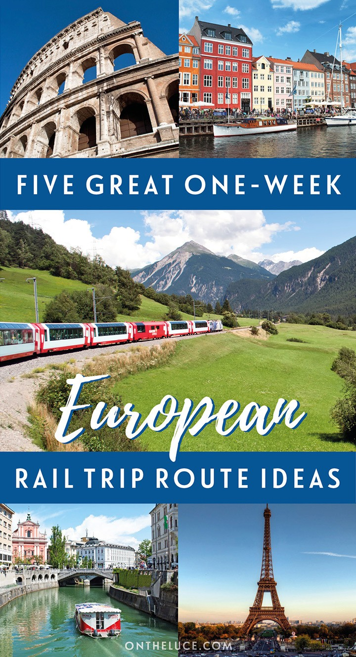 Exploring Europe by train: Five of the best one-week European rail trip itinerary ideas, including Italy, Spain, Scandinavia and Eastern Europe | Europe by train | Europe rail itineraries | InterRail itineraries | European train travel width=