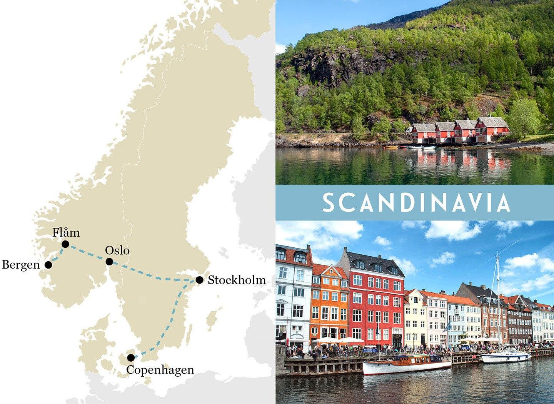 A one-week European rail trip itinerary in Scandinavia