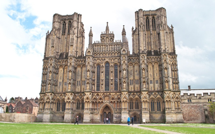 Wells cathedral in Somerset