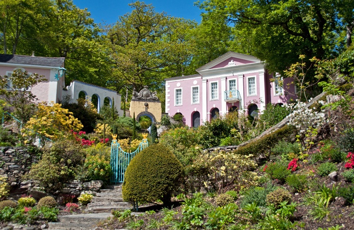 Unicorn Cottage in Portmeirion, North Wales