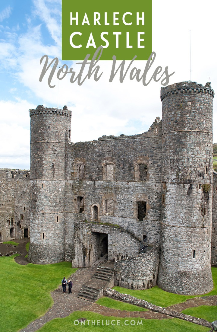 Visiting Harlech Castle in North Wales, one of the country's most impressive medieval castles in a spectacular position on a spur of rock overlooking the coast. #Wales #castle #Harlech