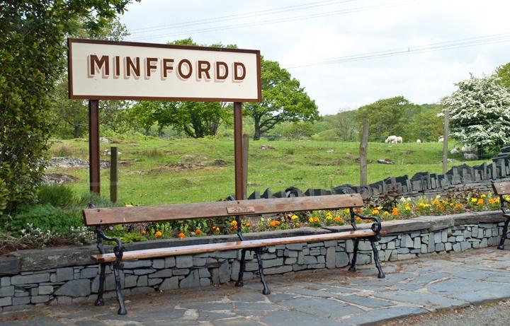 Minffordd station on the Ffestiniog Railway