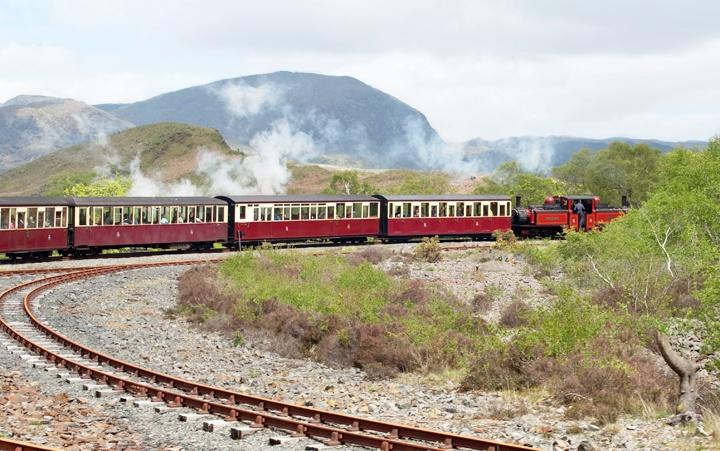 The Ffestiniog Railway spiral