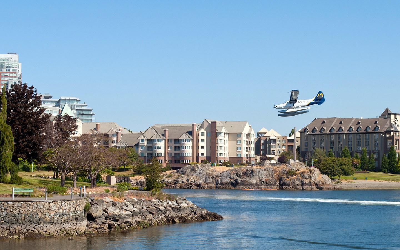 Seaplane in Victoria harbour, British Columbia, Canada
