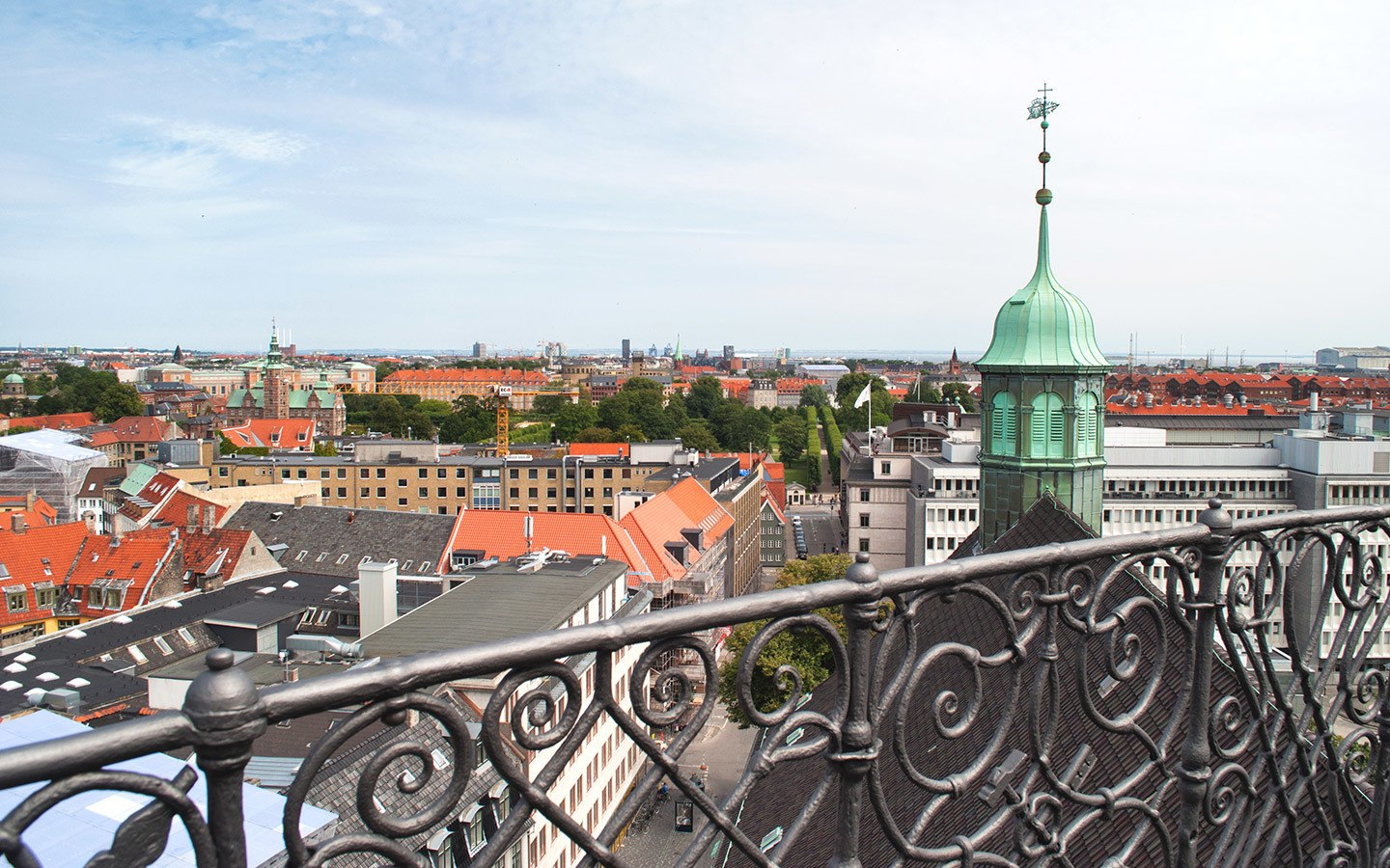 Views across the city from the Rundetårn