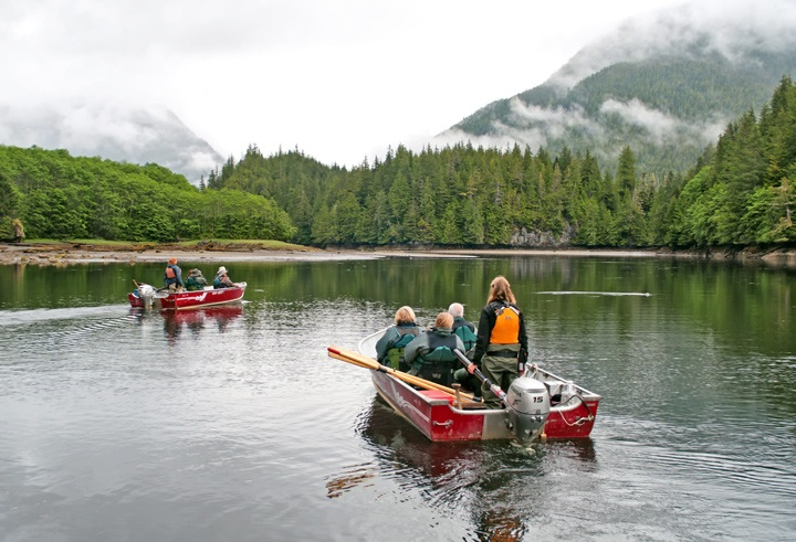 Out on the water in the Great Bear Rainforest