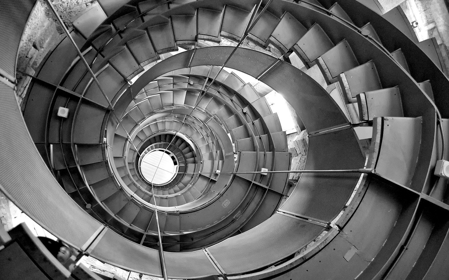 Stairs in the Lighthouse's old water tower