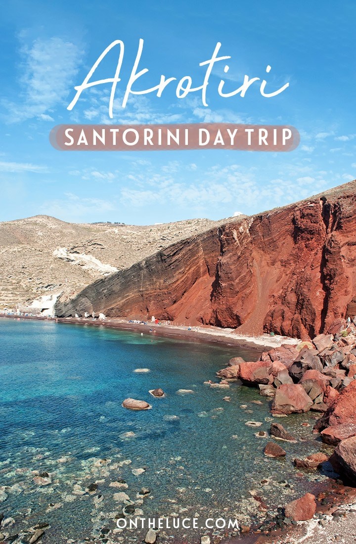 A day trip to Akrotiri, Santorini – featuring Akrotiri archaeological site with the buried ancient city and the Red Beach – one of the best things to do in Santorini, Greece  | Akrotiri Santorini | Things to do in Santorini | Santorini history | Santorini archaeology