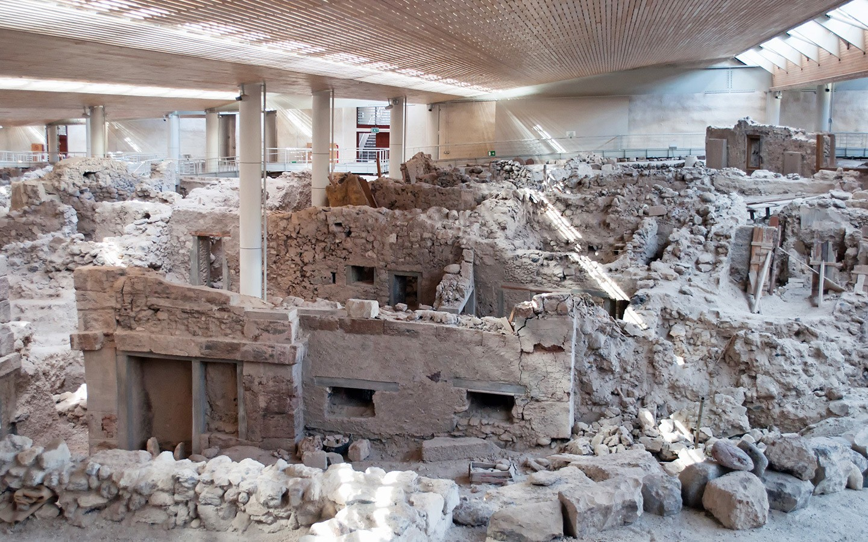 The ancient buried city of Akrotiri, Santorini: Greece's Pompeii