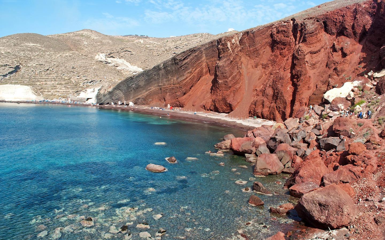 The Red Beach at Akrotiri, Santorini