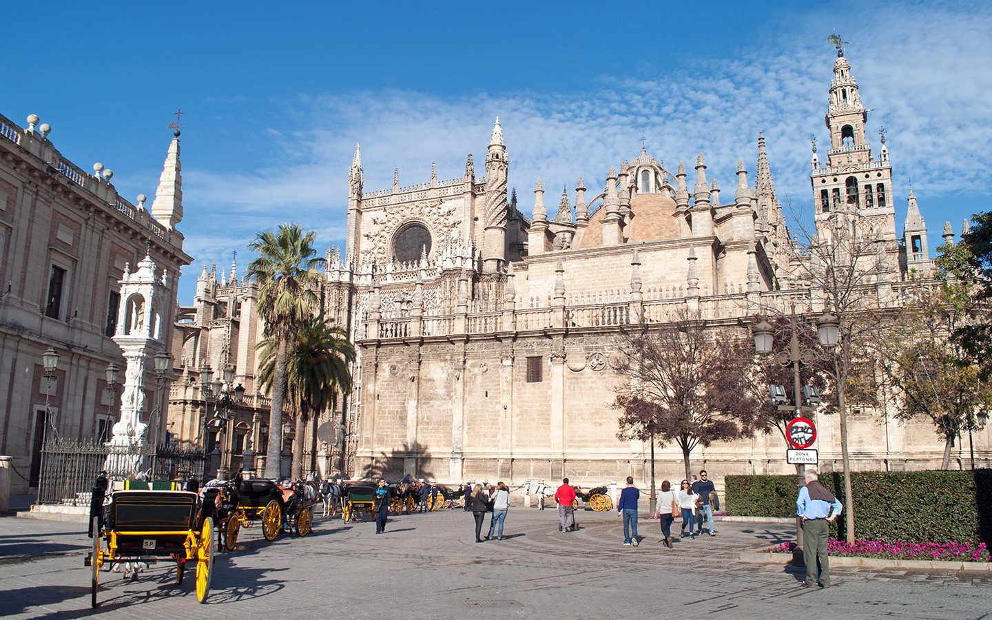 The side of Seville cathedral