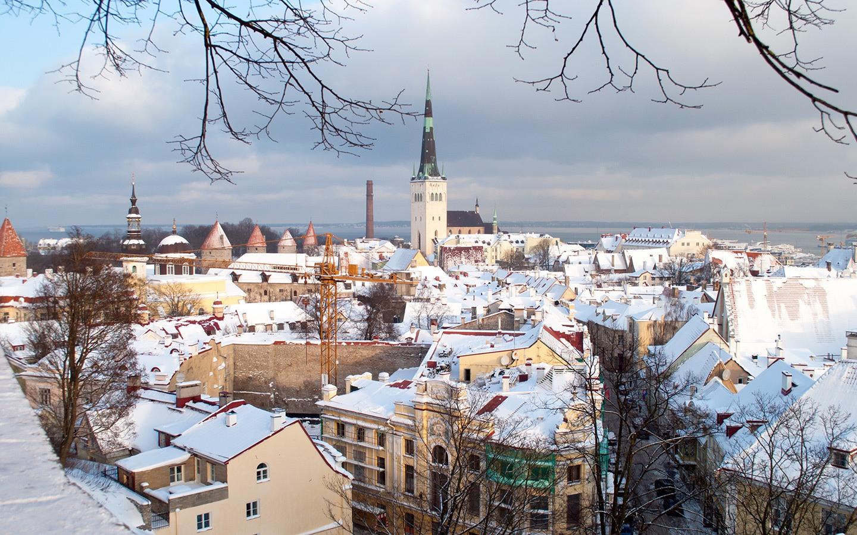 Kohtuotsa viewpoint in Tallinn in winter