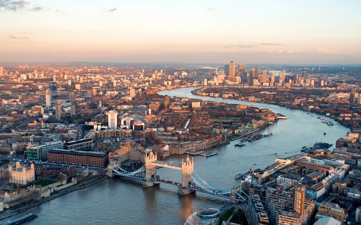 Sunset from the Shard, London