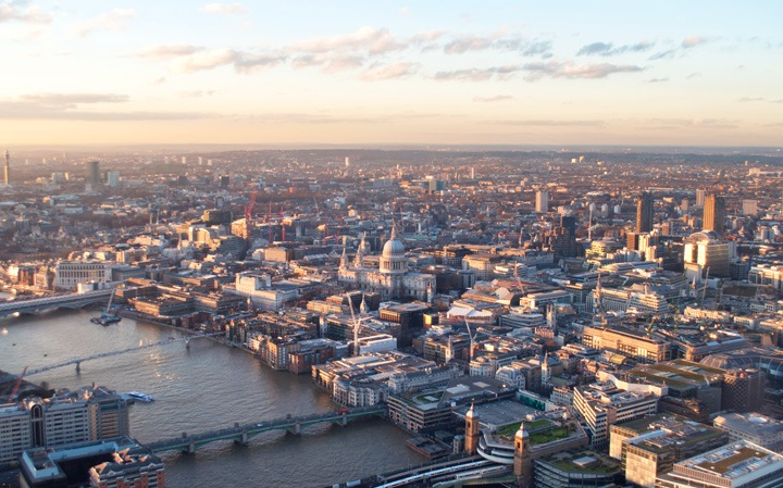 St Pauls's Cathedral at sunset
