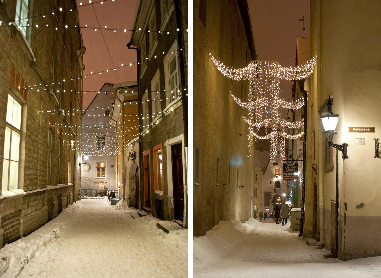 Christmas lights in Tallinn