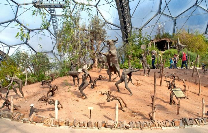 Mediterranean biome sculptures