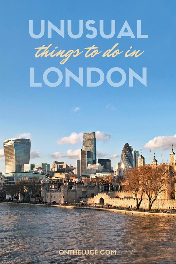The best unusual and alternative things to see and do in London – when you've seen the Tower of London, Shard and London Eye, here's what to do next. #London #England #alternative #quirky #quirkyLondon