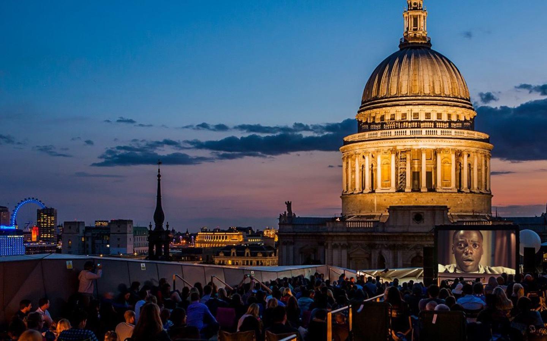 Ourdoor rooftop cinema London