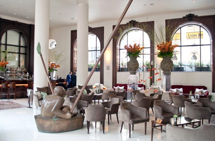 Lobby at the One Aldwych hotel London